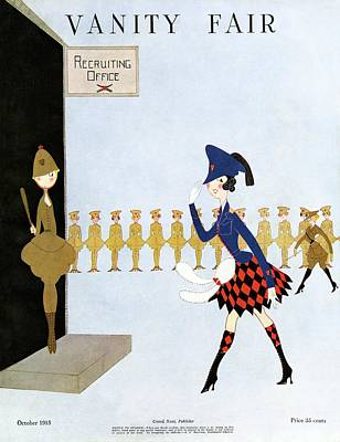 Vanity Fair Cover Featuring A Woman Walking Print by Artist Unknown