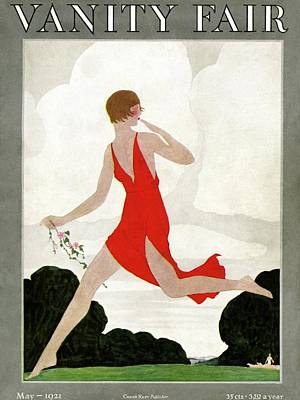 Running Photograph - Vanity Fair Cover Featuring A Young Woman by Andre E.  Marty