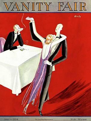 Vanity Fair Cover Featuring An Elegant Couple Art Print