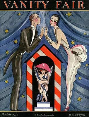 Vanity Fair Cover Featuring An Elegant Man Art Print