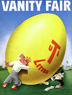 Photograph - Vanity Fair Cover Featuring Easter Egg Rolling by Paolo Garretto