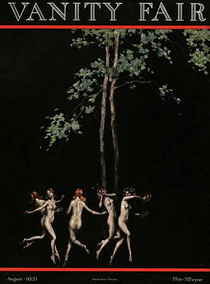 Davis Photograph - Vanity Fair Cover Featuring Five Wood Nymphs by Warren Davis