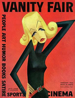 Actress Photograph - Vanity Fair Cover Featuring Greta Garbo by Miguel Covarrubias