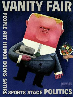 Photograph - Vanity Fair Cover Featuring Herbert Hoover by Miguel Covarrubias