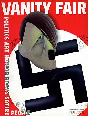 Caricature Portraits Photograph - Vanity Fair Cover Featuring Hitler's Face by Paolo Garretto