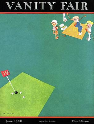 Photograph - Vanity Fair Cover Featuring Men Playing Golf by John Held Jr