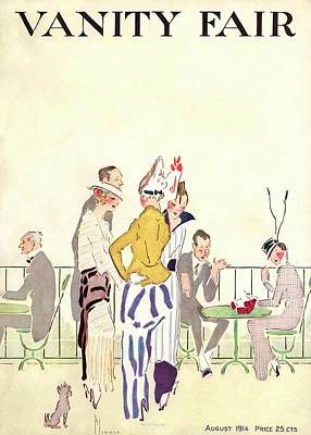 Vanity Fair Cover Featuring People At An Outdoor Art Print by Ethel Plummer