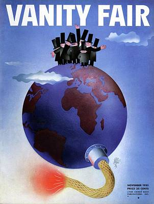 Political Photograph - Vanity Fair Cover Featuring Politicians Standing by Paolo Garretto