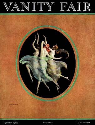 Photograph - Vanity Fair Cover Featuring Three Dancing Nymphs by Warren Davis