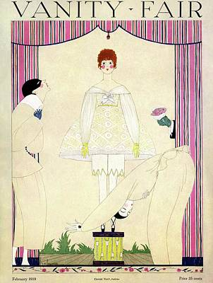 Bouquet Photograph - Vanity Fair Cover Featuring Three Men Wooing by Georges Lepape
