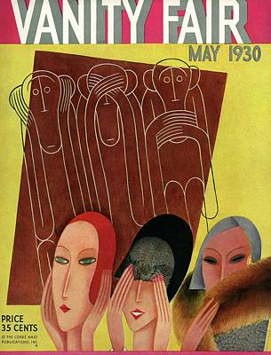 Photograph - Vanity Fair Cover Featuring Three Monkeys by Miguel Covarrubias