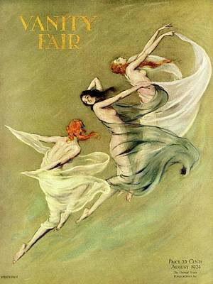 Photograph - Vanity Fair Cover Featuring Three Nymphs by Warren Davis