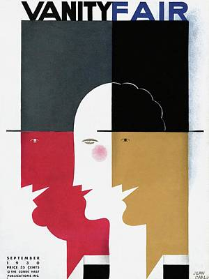 Stylized Photograph - Vanity Fair Cover Featuring Three Profiles by Jean Carlu