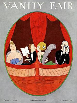 Vanity Fair Cover Featuring Two Couples Art Print by A. H. Fish