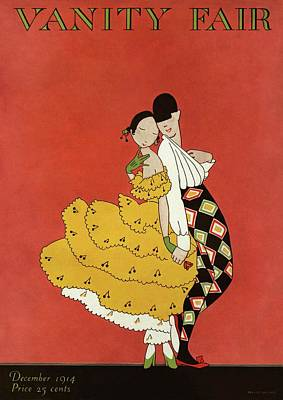 Vanity Fair Cover Featuring Two Dancers Art Print by A. H. Fish