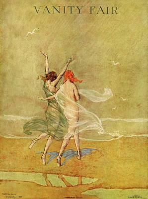 Vanity Photograph - Vanity Fair Cover Featuring Two Nymphs by Warren Davis