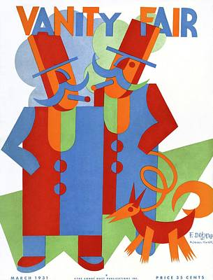 Stylized Photograph - Vanity Fair Cover Featuring Two Wealthy Men by Fortunato Depero