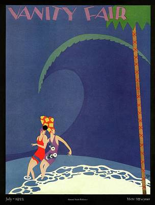 Photograph - Vanity Fair Cover Featuring Two Women Bathing by Kliz