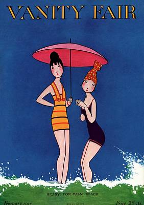 Swimsuit Photograph - Vanity Fair Cover Featuring Two Women Standing by A. H. Fish