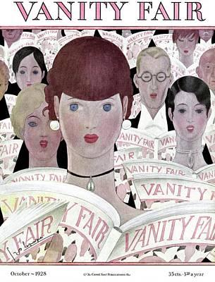 Brown Earrings Photograph - Vanity Fair Readers by Georges Lepape
