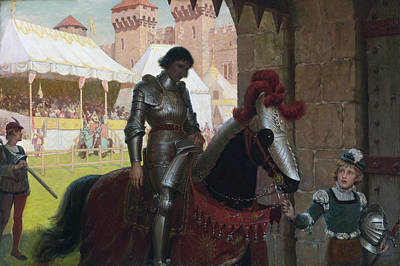Vanquished Painting - Vanquished by Edmund Blair Leighton