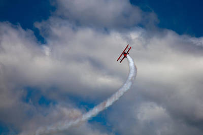 Airplanes Photograph - Vapor Trail At The Wings And Wheels Airshow by David Patterson