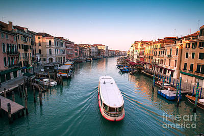 Vaporetto On The Grand Canal - Venice Art Print by Matteo Colombo