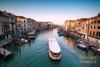 Vaporetto On The Grand Canal - Venice Art Print