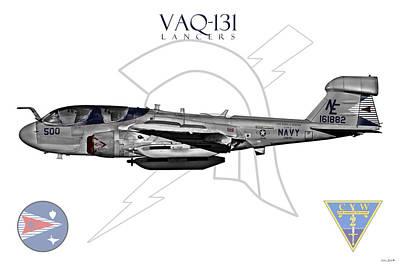Prowler Digital Art - Vaq-131 Prowler Sundown 2014 by Clay Greunke