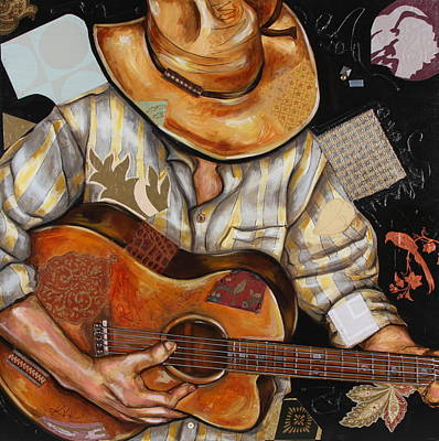 Mixed Media - Vaquero De The Acoustic Guitar by Katia Von Kral
