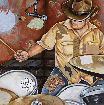 Mixed Media - Vaquero De The Drums by Katia Von Kral