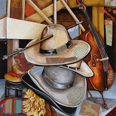 Mixed Media - Vaquero De The Hats by Katia Von Kral