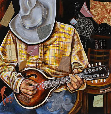 Mixed Media - Vaquero De The Mandolin by Katia Von Kral
