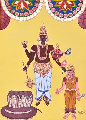 Incarnation Painting - Varahamurti by Pratyasha Nithin