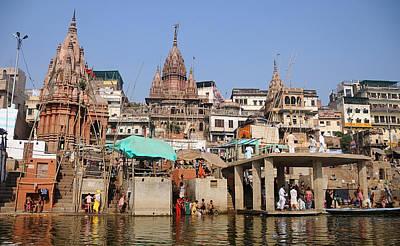 Cremation Ghat Photograph - Varanasi Ghat by Money Sharma