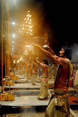 Photograph - Varanasi's Ganga Aarti by Money Sharma