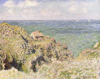 Barn Poster Painting - Varengeville Gorge by Claude Monet