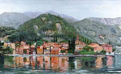 Varenna, Lake Como, Italy, 2004 Oil On Canvas Art Print