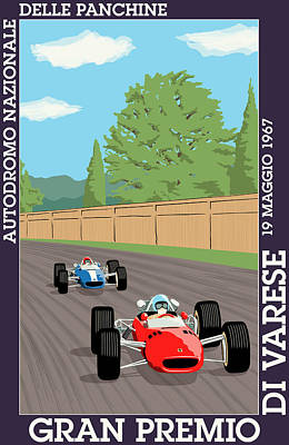 Icon Reproductions Digital Art - Varese Italy Grand Prix 1967 by Georgia Fowler