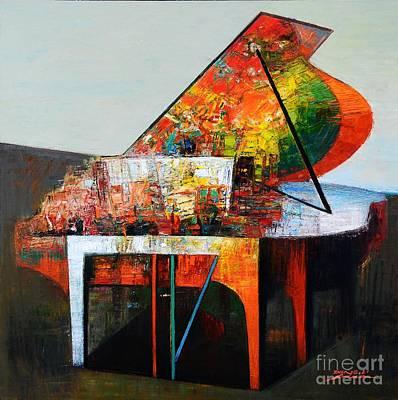 Schubert Painting - Variations For Piano No. 23 by Zheng Li