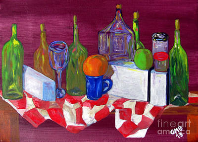 Tablecloth Painting - Varied Still Life by Greg Mason Burns