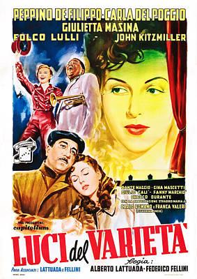 Fellini Photograph - Variety Lights, Aka Luci Del Varieta by Everett
