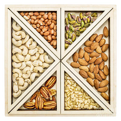 Variety Of Nuts Abstract Art Print