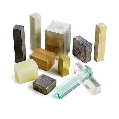 Variety Of Solid Materials Art Print