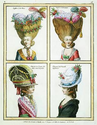 Volumes Drawing - Various Artists, Galerie Des Modes Et Costumes Francais by Litz Collection