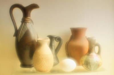 Various Ceramic Vases. Art Print by   larisa Fedotova