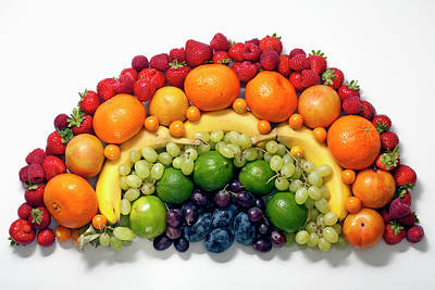 Photograph - Various Fruits Arranged Into The Shape by Larry Washburn