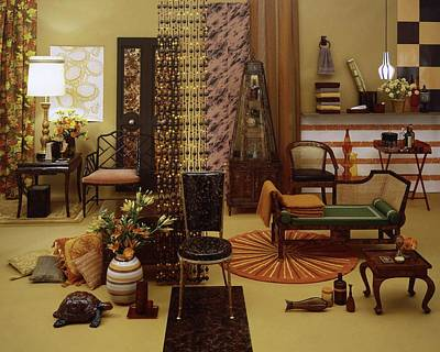 Various Tortoise Shell Furniture And Accessories Art Print