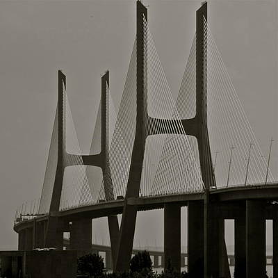 Photograph - Vasco Da Gama Bridge In Lisbon by Kirsten Giving