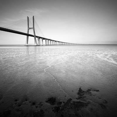 Balck Art Photograph - Vasco Da Gama Bridge by Krzysztof Jedrzejak